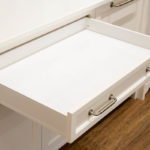 Metal Sided Soft Close Blum Standard Drawer in Silk White